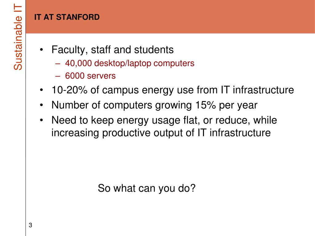 IT AT STANFORD