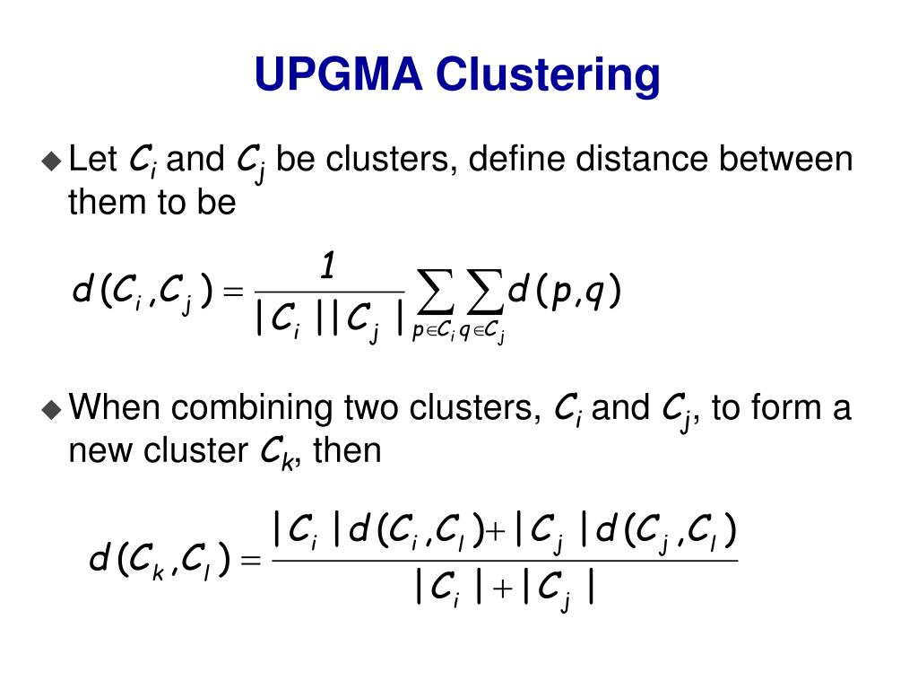 UPGMA Clustering