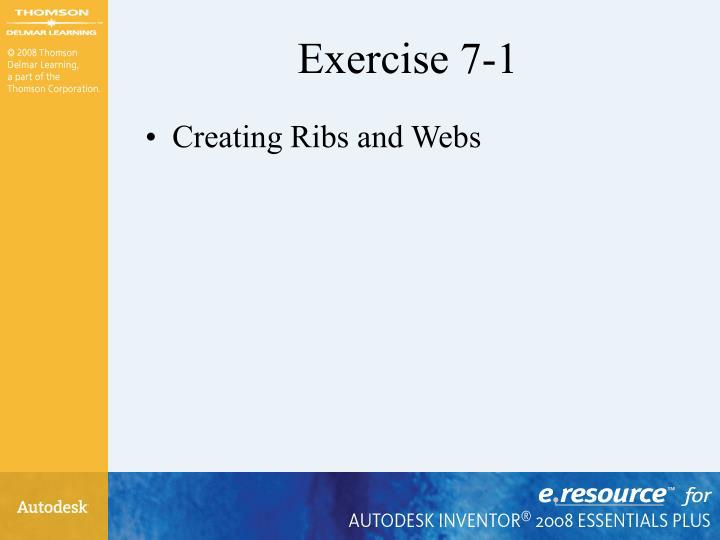 Exercise 7-1