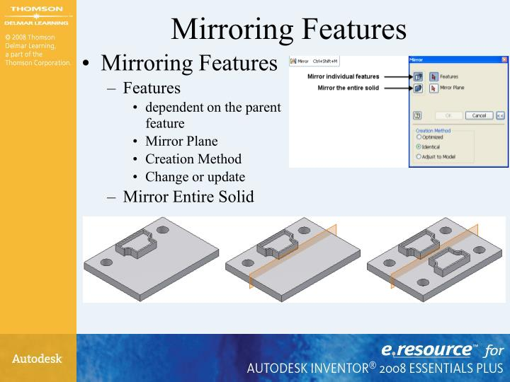 Mirroring Features