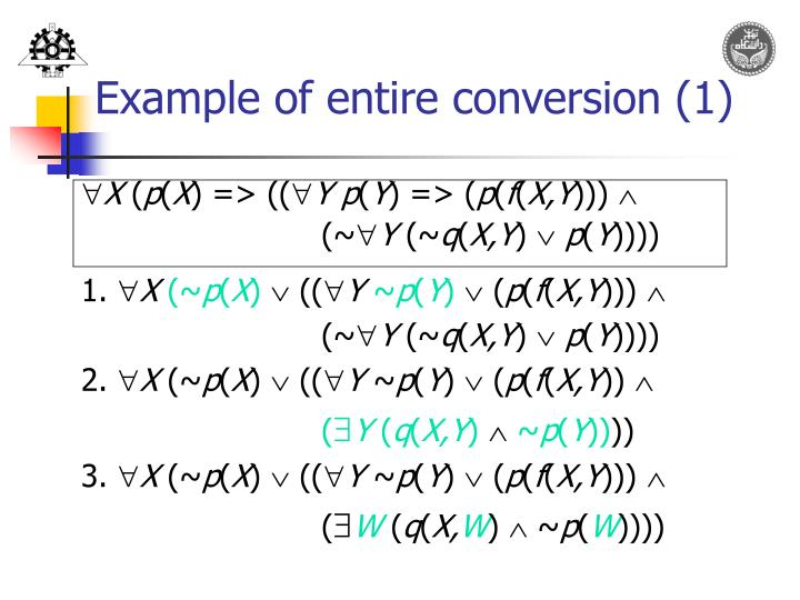 Example of entire conversion (1)