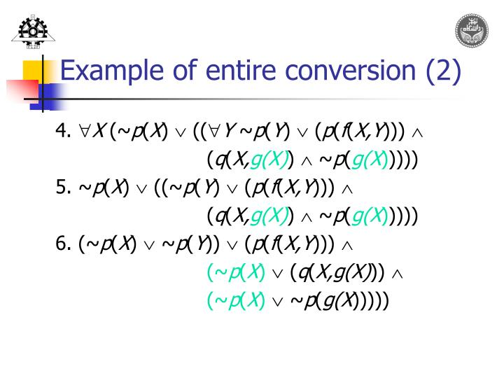 Example of entire conversion (2)
