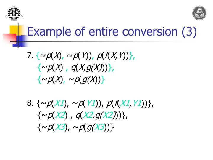 Example of entire conversion (3)