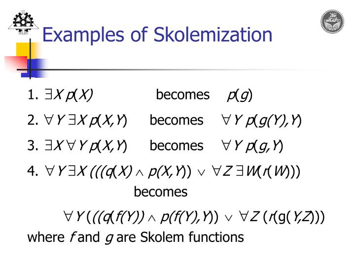 Examples of Skolemization