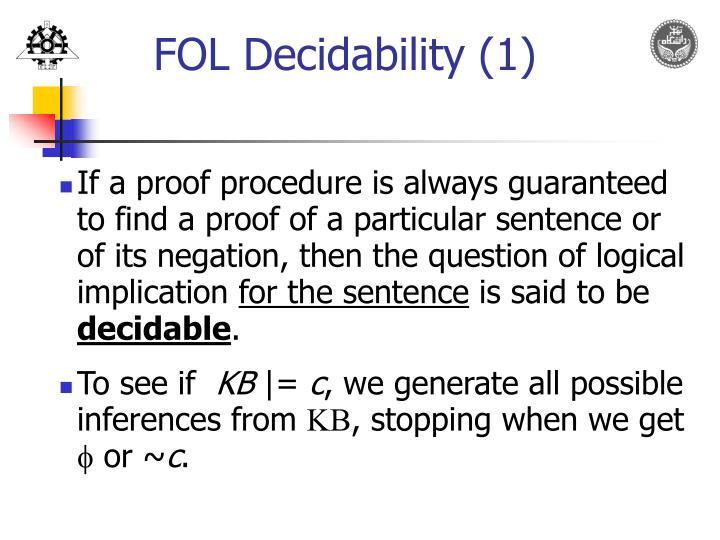 FOL Decidability (1)