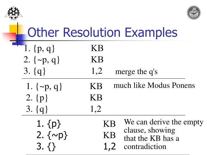 Other Resolution Examples