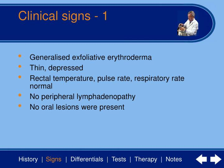 Clinical signs 1