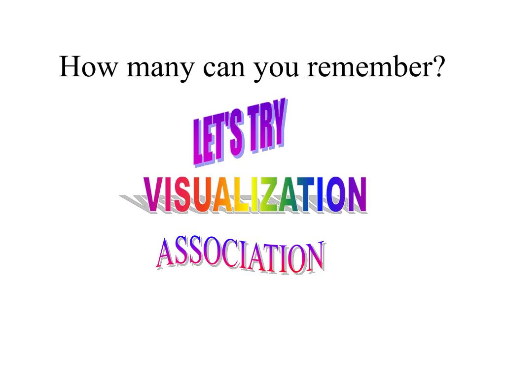 How many can you remember?