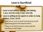 love is sacrificial