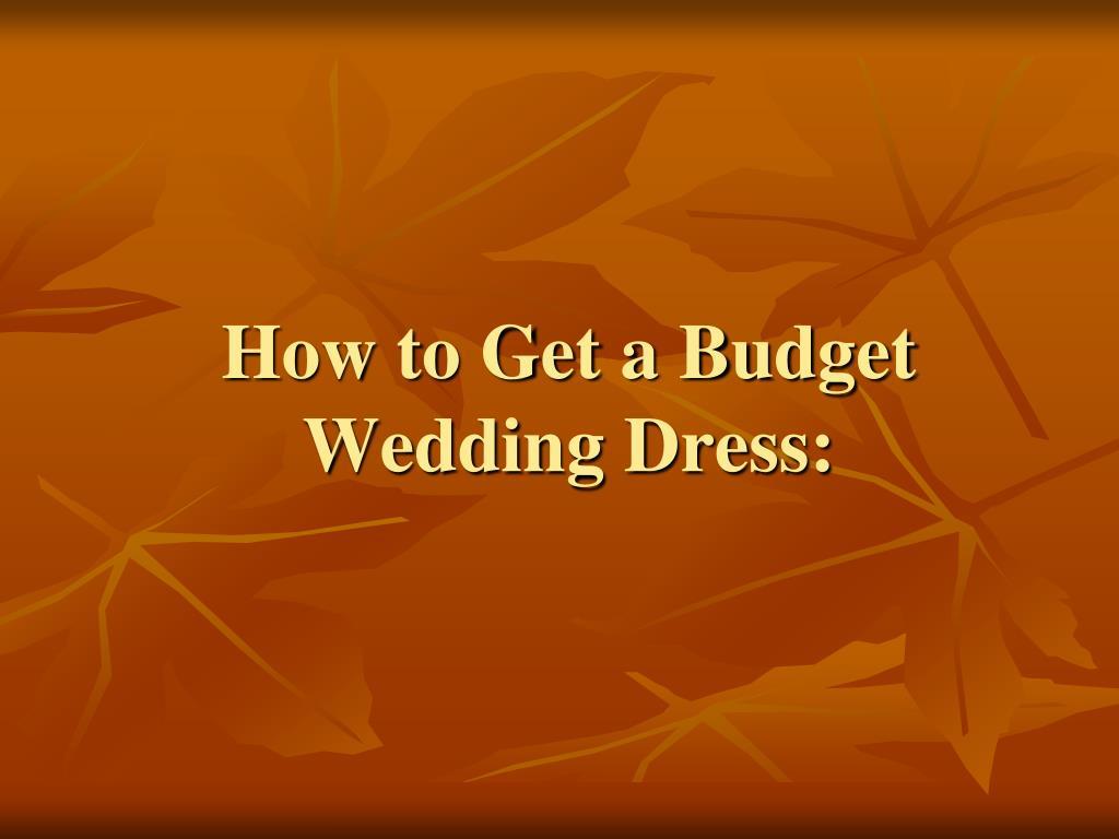 How to Get a Budget Wedding Dress: