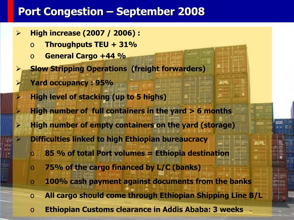 Port Congestion – September 2008