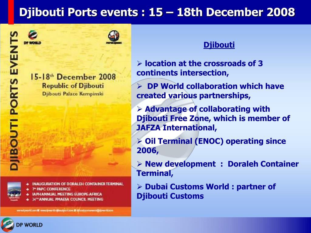 Djibouti Ports events : 15 – 18th December 2008