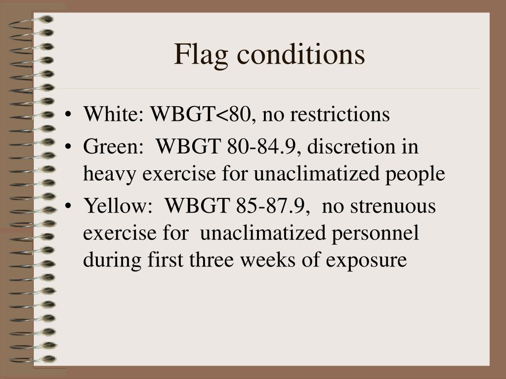 Flag conditions