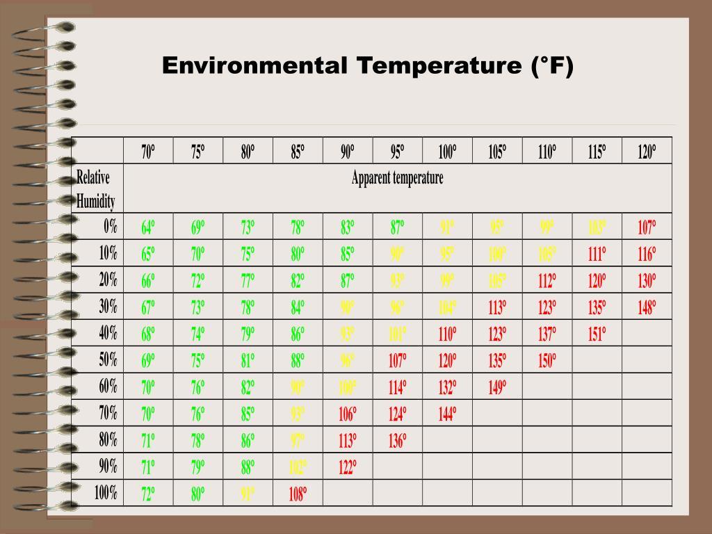 Environmental Temperature (°F)