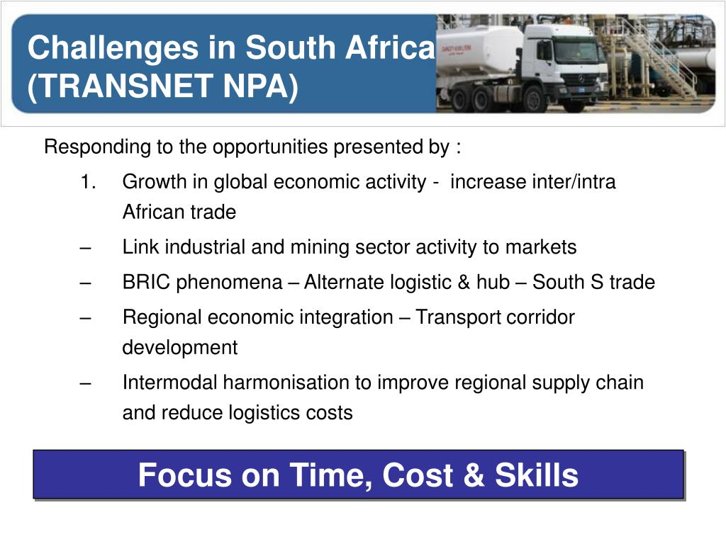 Challenges in South Africa