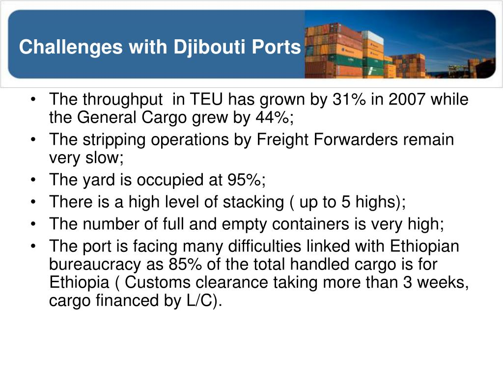 Challenges with Djibouti Ports