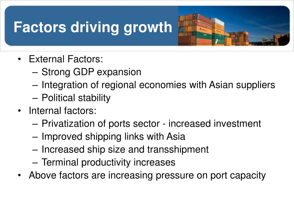 Factors driving growth