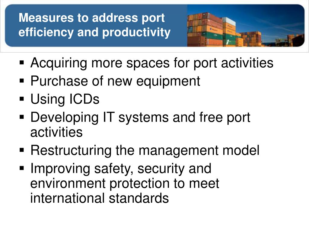 Measures to address port