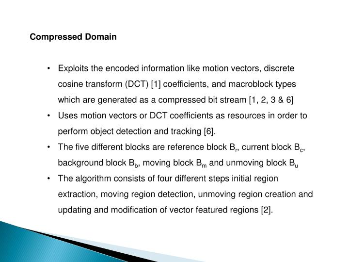 Compressed Domain