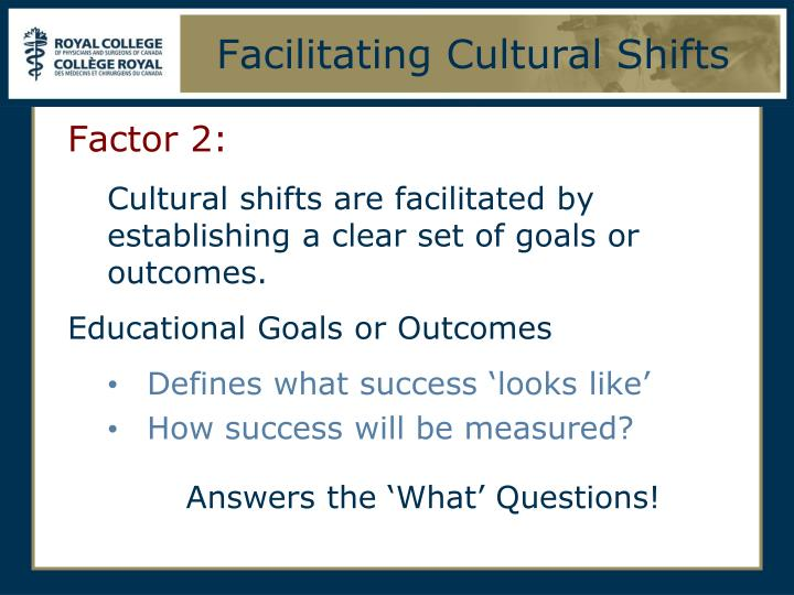 Facilitating Cultural Shifts
