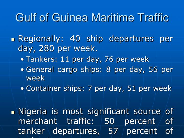Gulf of Guinea Maritime Traffic