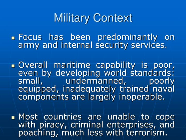 Military Context