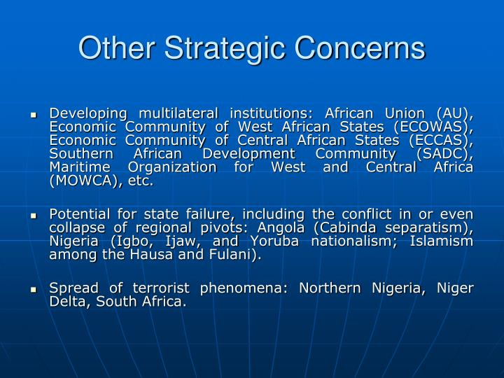Other Strategic Concerns