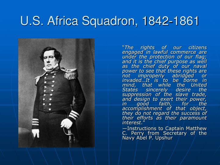 U.S. Africa Squadron, 1842-1861