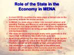 role of the state in the economy in mena