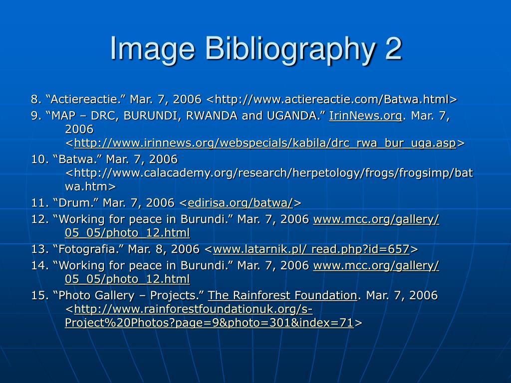 Image Bibliography 2