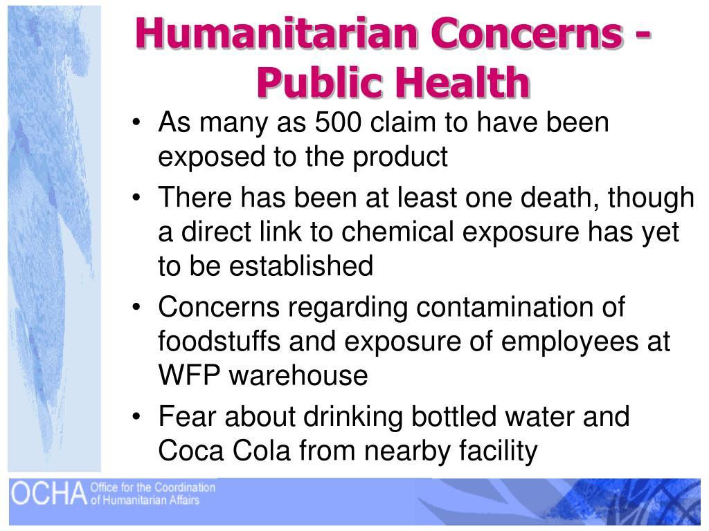 Humanitarian Concerns -