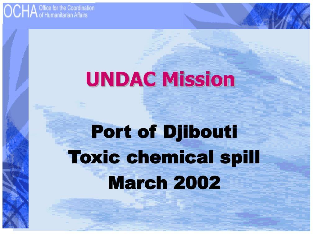 UNDAC Mission