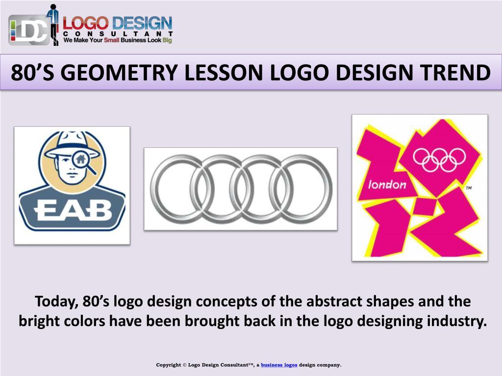 80'S GEOMETRY LESSON LOGO DESIGN TREND