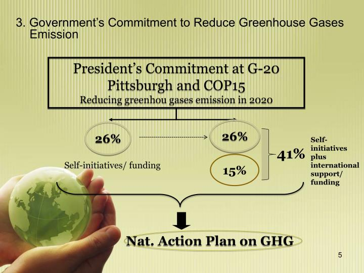 3. Government's Commitment to Reduce Greenhouse Gases   Emission