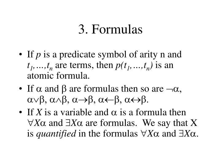 3. Formulas