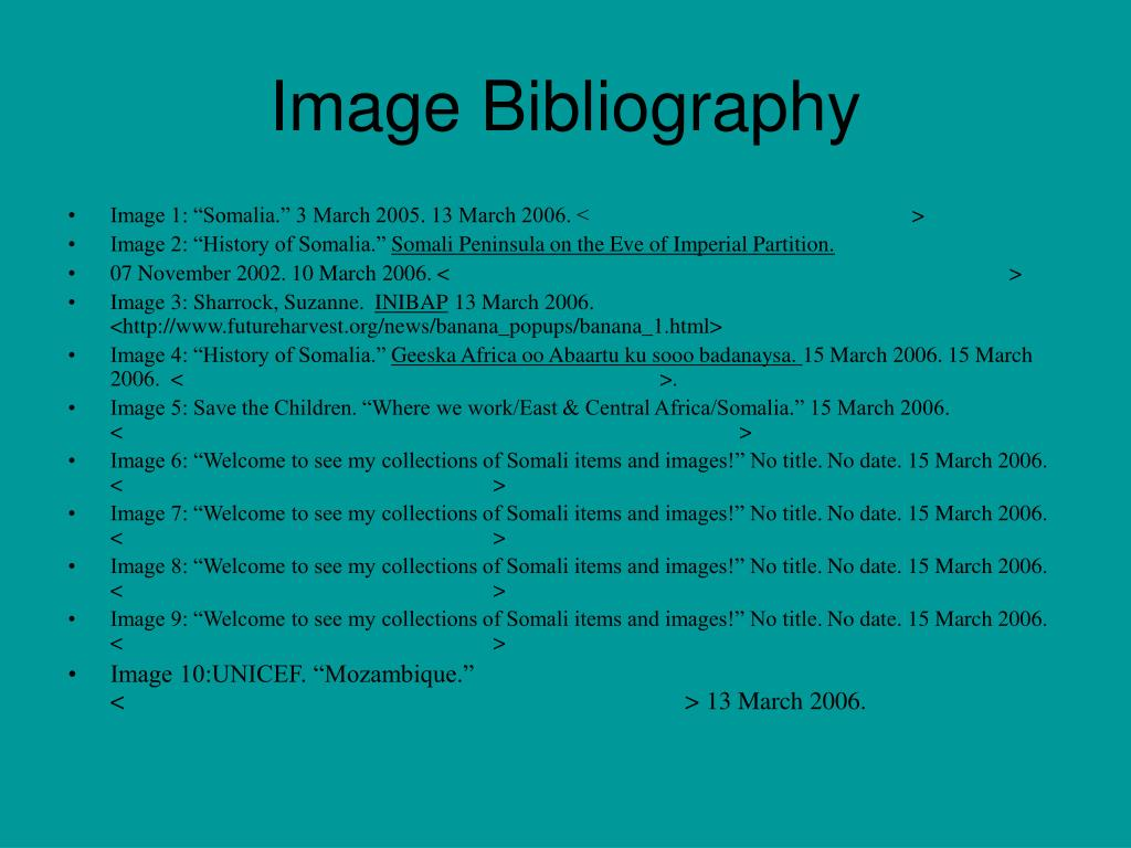 Image Bibliography