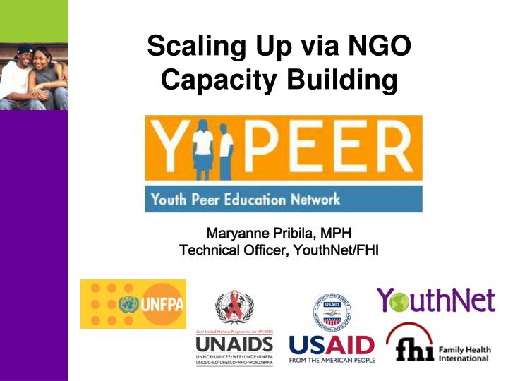 Scaling Up via NGO Capacity Building
