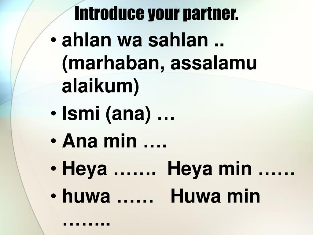 Introduce your partner.