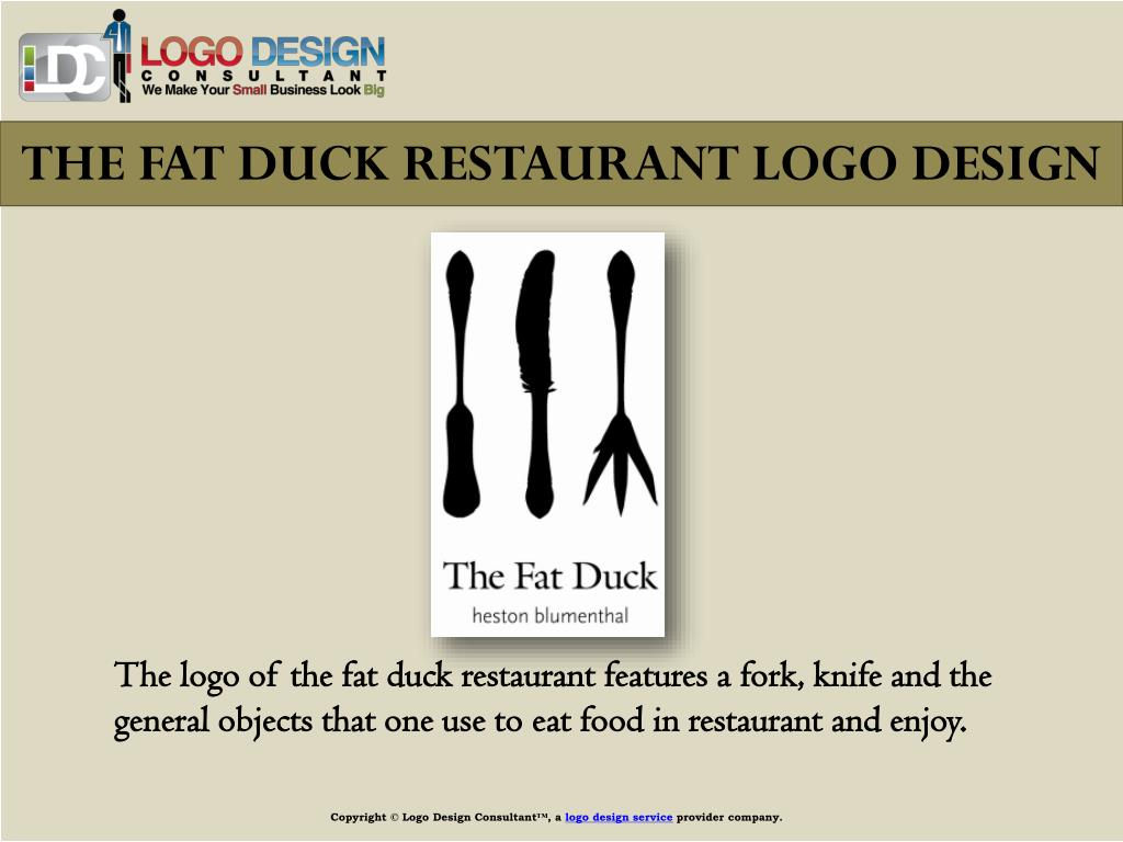 THE FAT DUCK RESTAURANT LOGO DESIGN