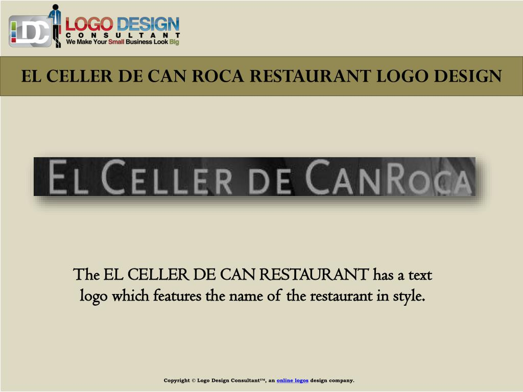 EL CELLER DE CAN ROCA RESTAURANT LOGO DESIGN