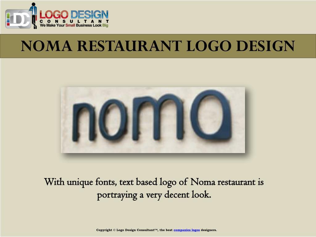 NOMA RESTAURANT LOGO DESIGN