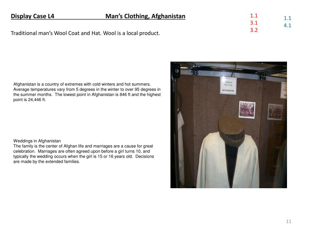 Display Case L4    		 Man's Clothing, Afghanistan