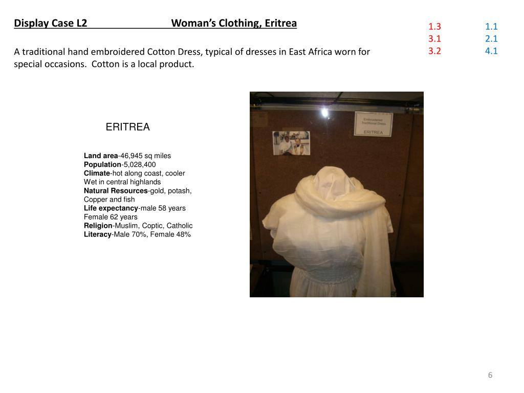 Display Case L2 	    	Woman's Clothing, Eritrea