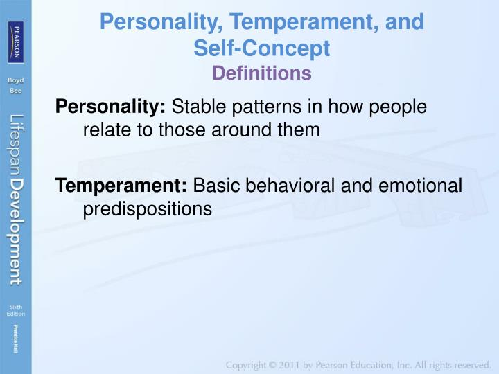 Personality, Temperament, and