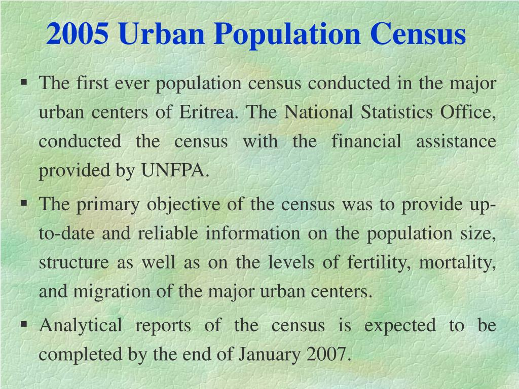 2005 Urban Population Census