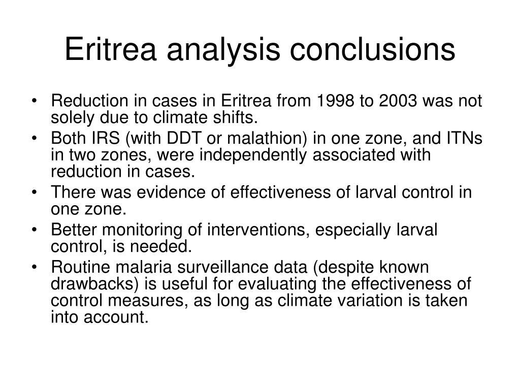 Eritrea analysis conclusions