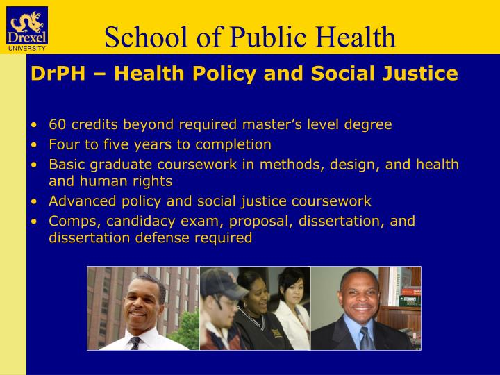 DrPH – Health Policy and Social Justice
