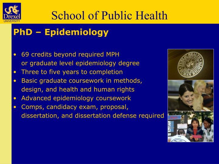 PhD – Epidemiology