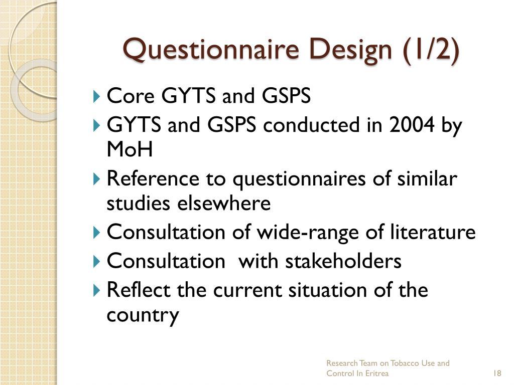 Questionnaire Design (1/2)