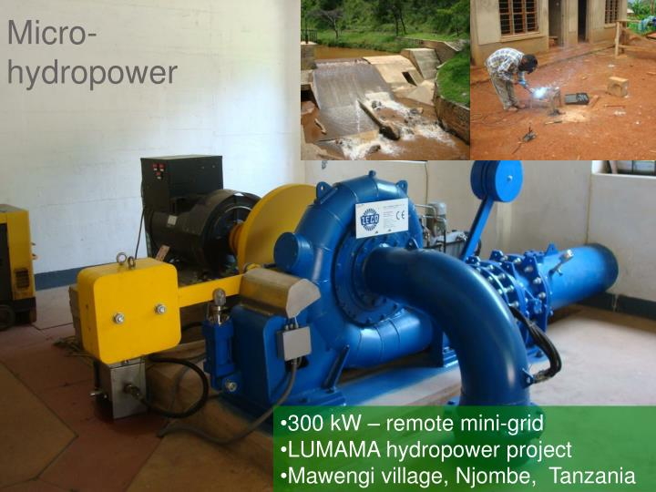 Micro- hydropower